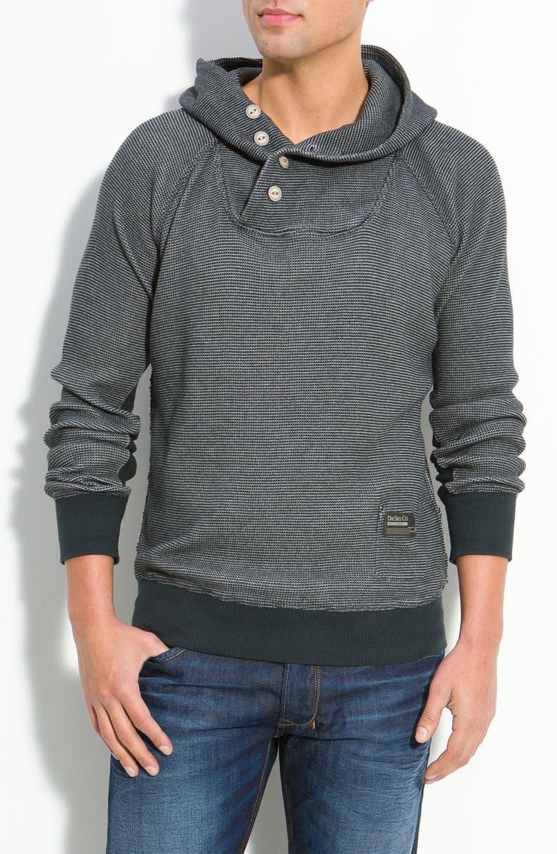 DIESEL<SUP>®</SUP> Pullover Hoodie, Main, color, 001