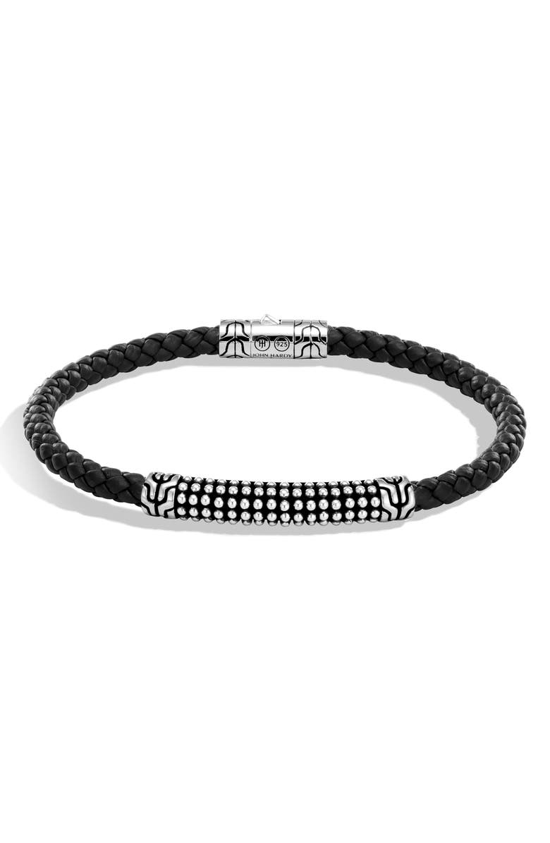 JOHN HARDY Men's Classic Chain Bracelet, Main, color, BLACK