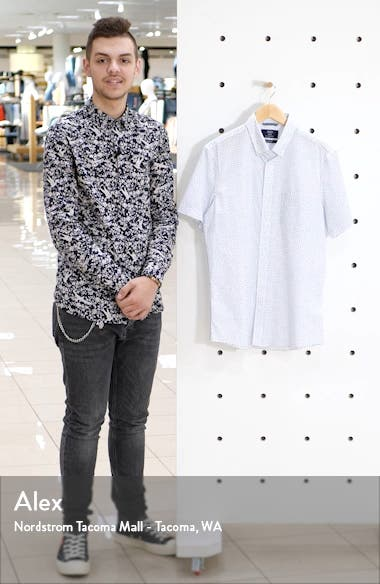 Trim Fit Short Sleeve Button-Down Shirt, sales video thumbnail