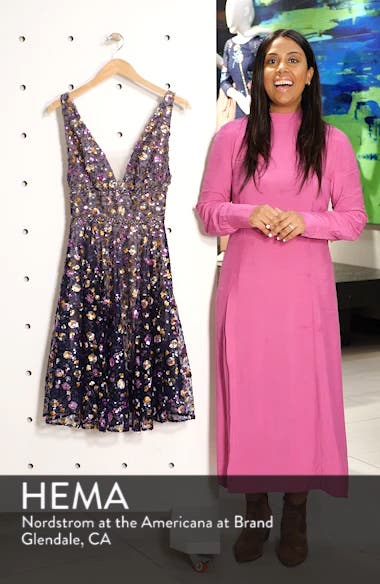 Sequin Fit & Flare Dress, sales video thumbnail
