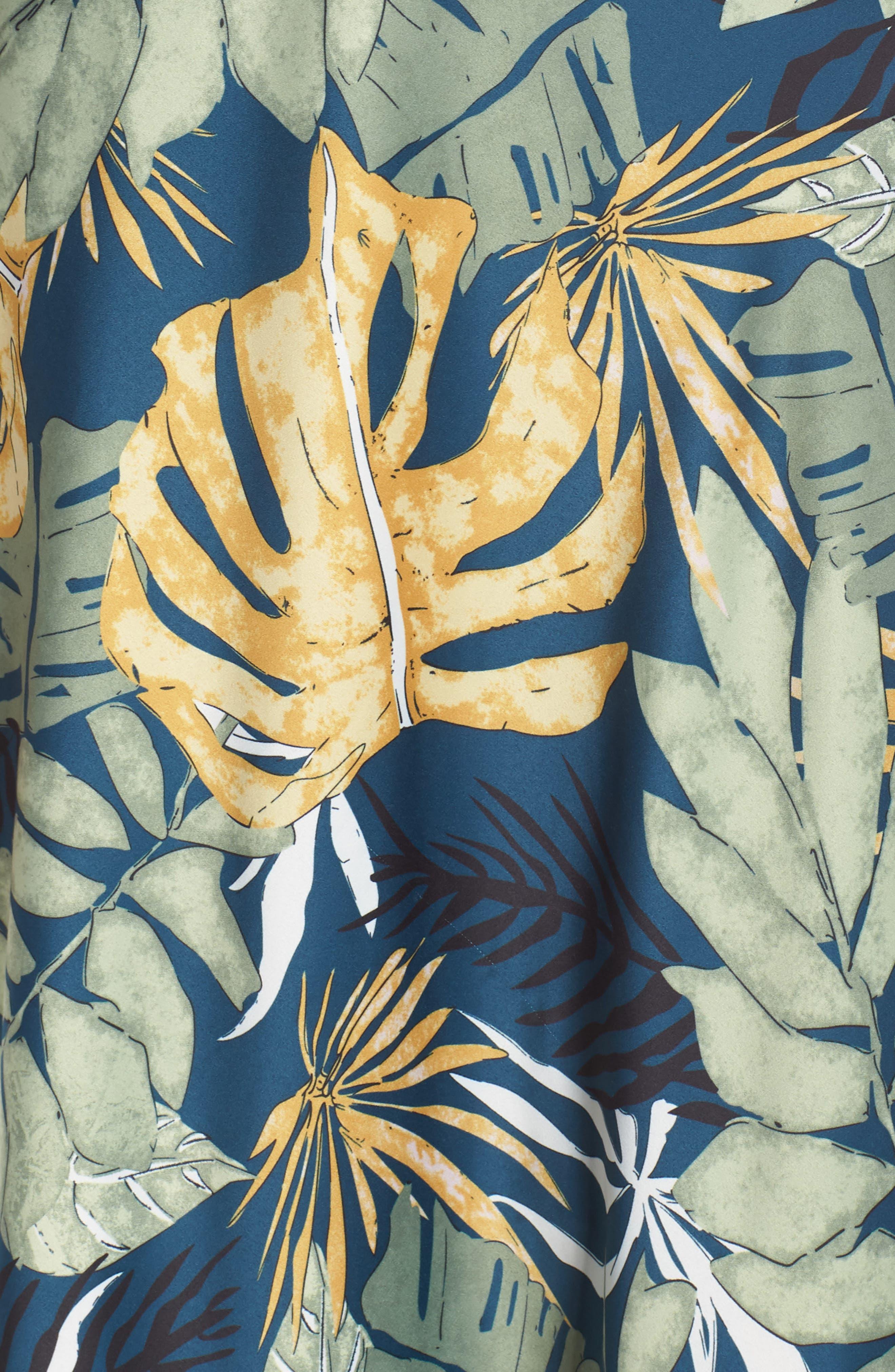 ,                             Floral Print Strappy Back Dress,                             Alternate thumbnail 6, color,                             NAVY FLORAL