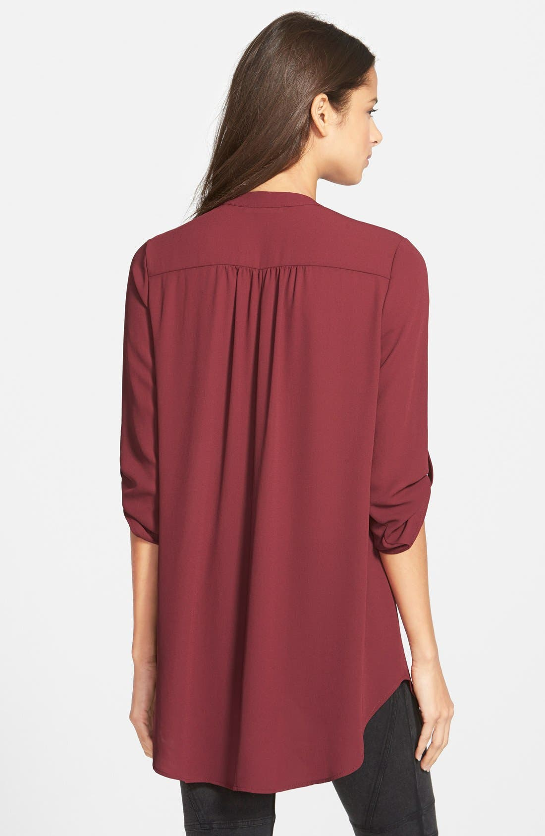 ,                             Perfect Roll Tab Sleeve Tunic,                             Alternate thumbnail 430, color,                             930