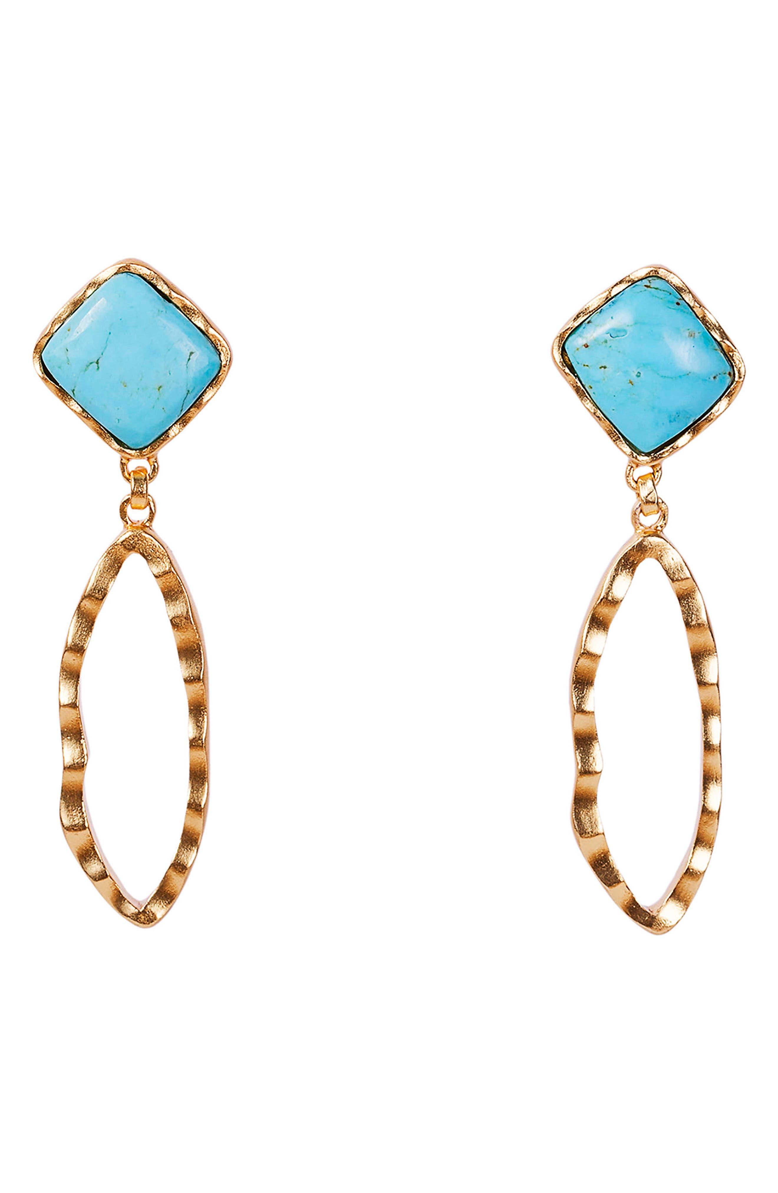 Deco Ovate Drop Earrings