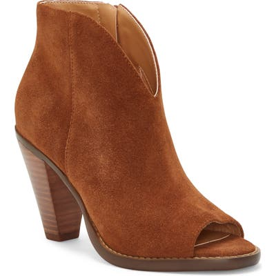 Jessica Simpson Jillrie Open Toe Bootie, Brown