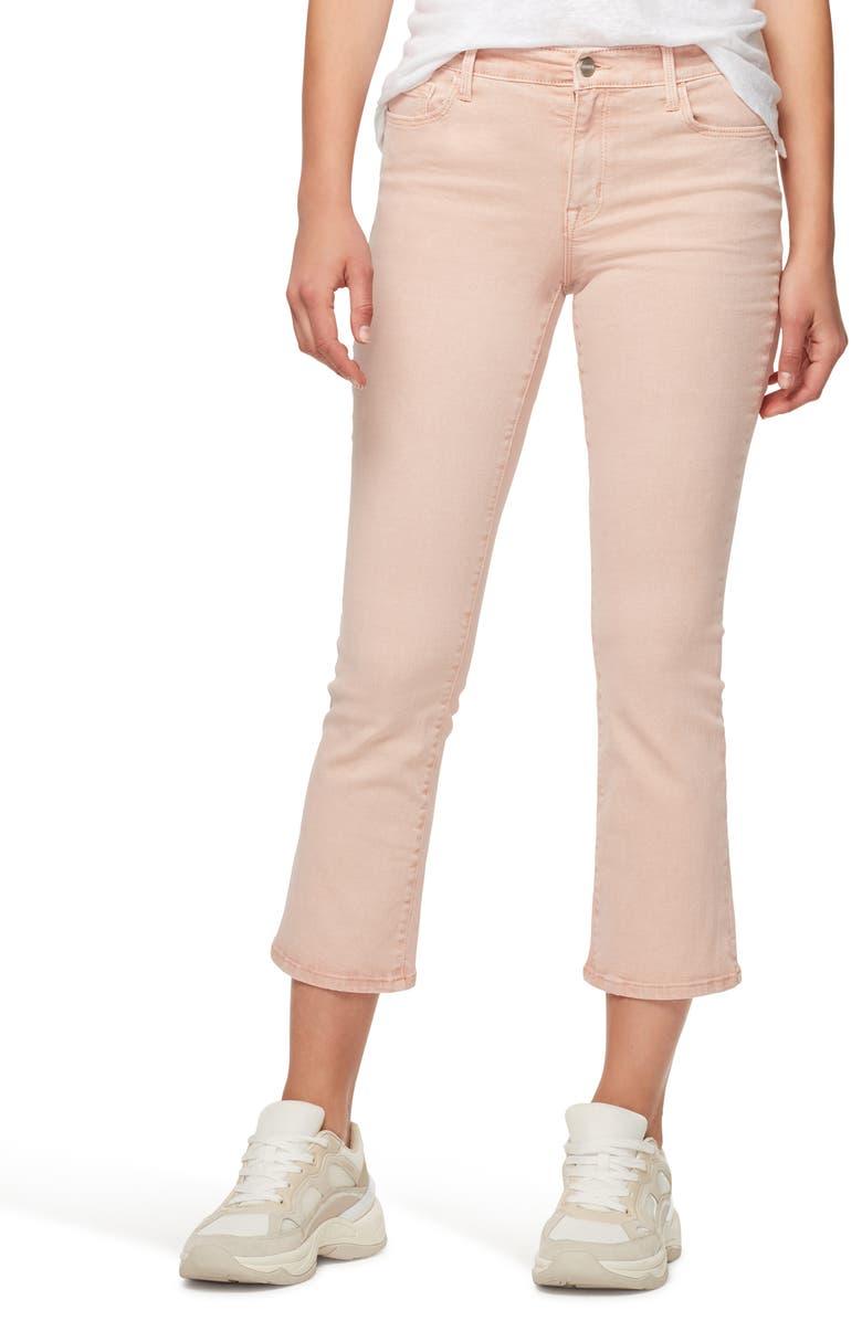 SANCTUARY Connector Kick Crop Jeans, Main, color, PEARL PINK