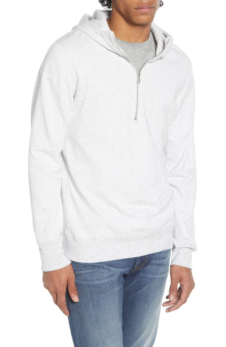 REIGNING CHAMP Lightweight Terry Half Zip Hoodie, Main, color, ASH