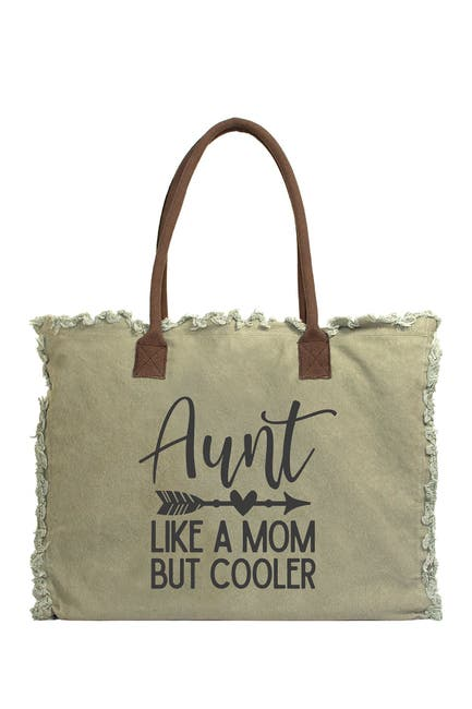 Image of Vintage Addiction Cool Aunt Canvas Tote Bag