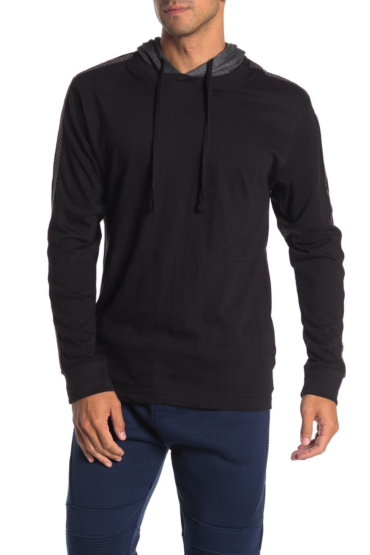 Image of Burnside Stripe Sleeve Pullover Hoodie