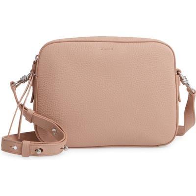 Allsaints Captain Lea Leather Crossbody Bag - Pink