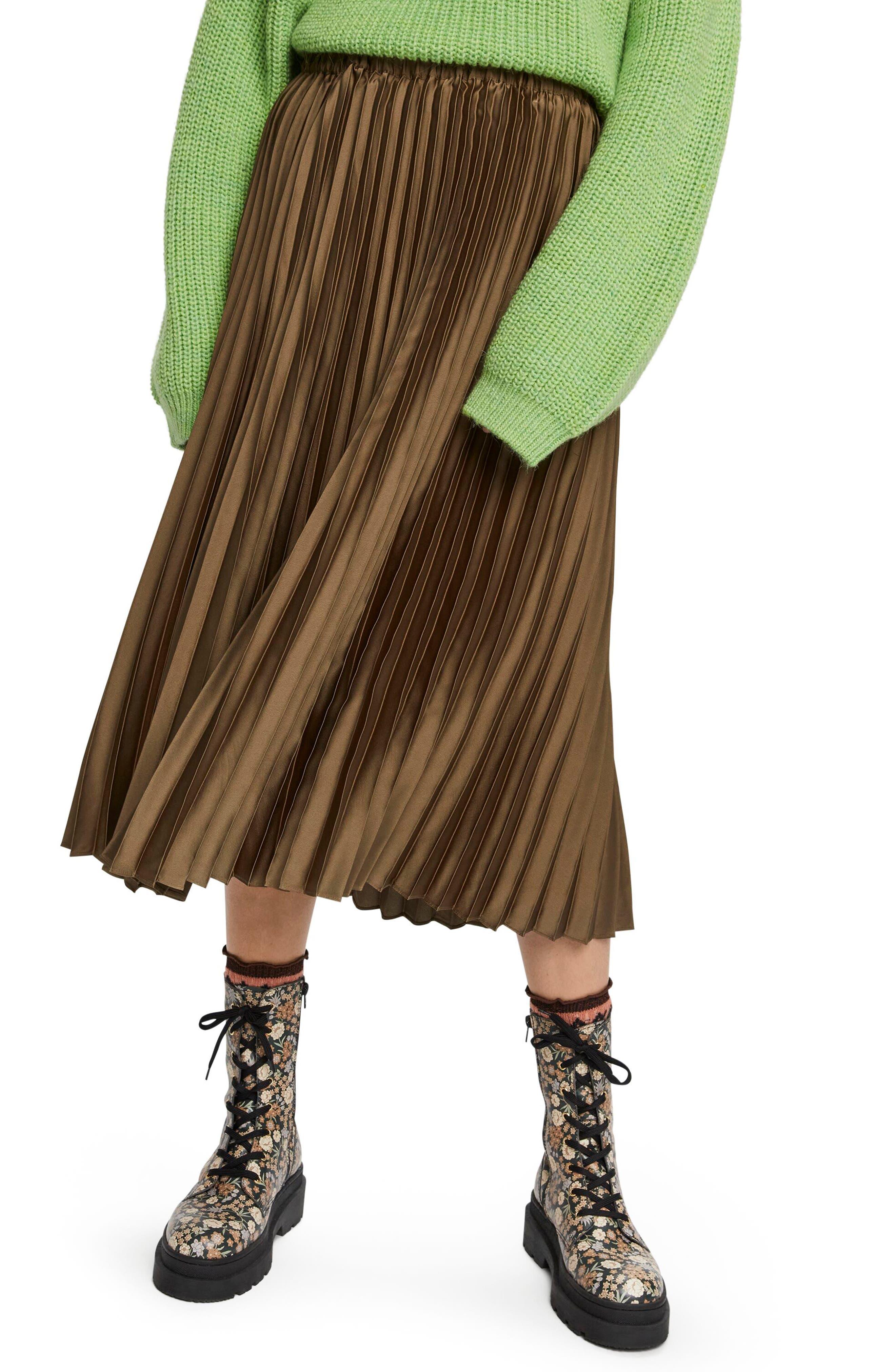 Scotch & Soda Pleated Midi Skirt | Nordstrom
