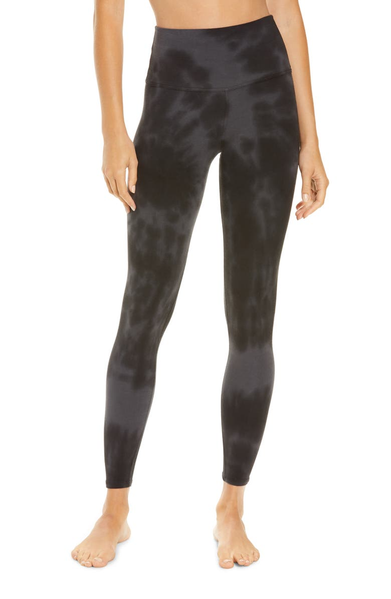 ELECTRIC & ROSE Sunset Leggings, Main, color, ONYX