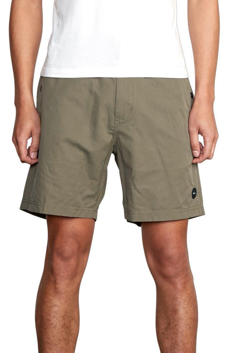 RVCA Cliffs Hybrid Swim Shorts, Main, color, OLIVE