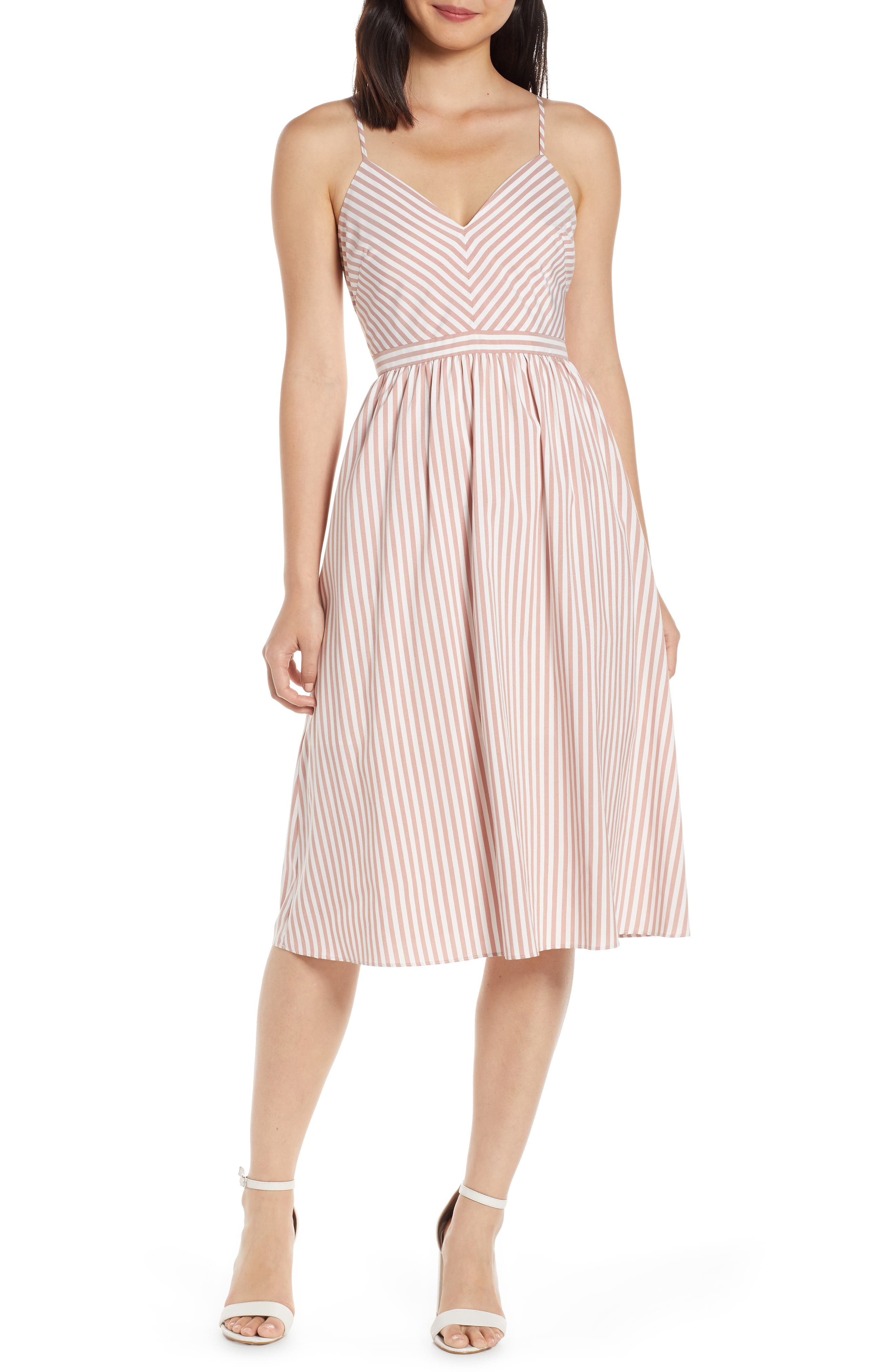 Avec Les Filles Stripe Sundress, Pink