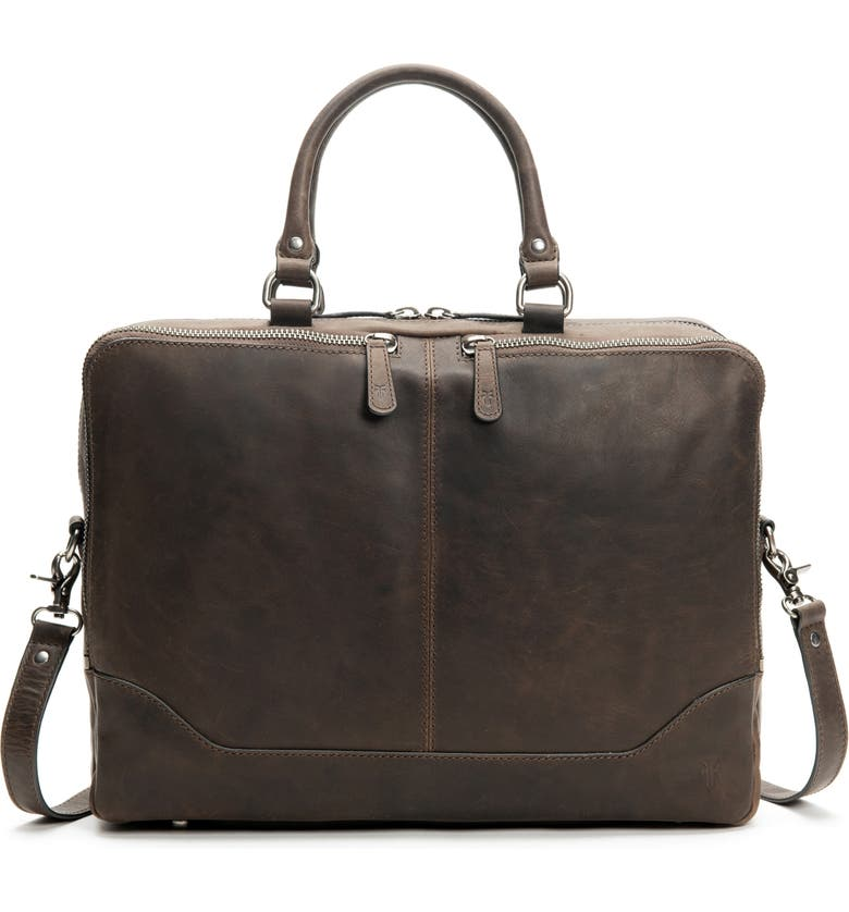 FRYE Logan Leather Briefcase, Main, color, 031