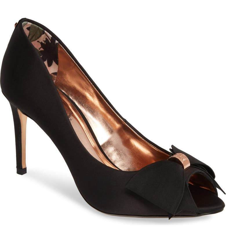 TED BAKER LONDON Nualas Pump, Main, color, BLACK SATIN