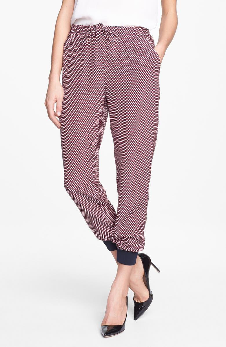 THEORY 'Arai Cubes' Crop Silk Pants, Main, color, 600
