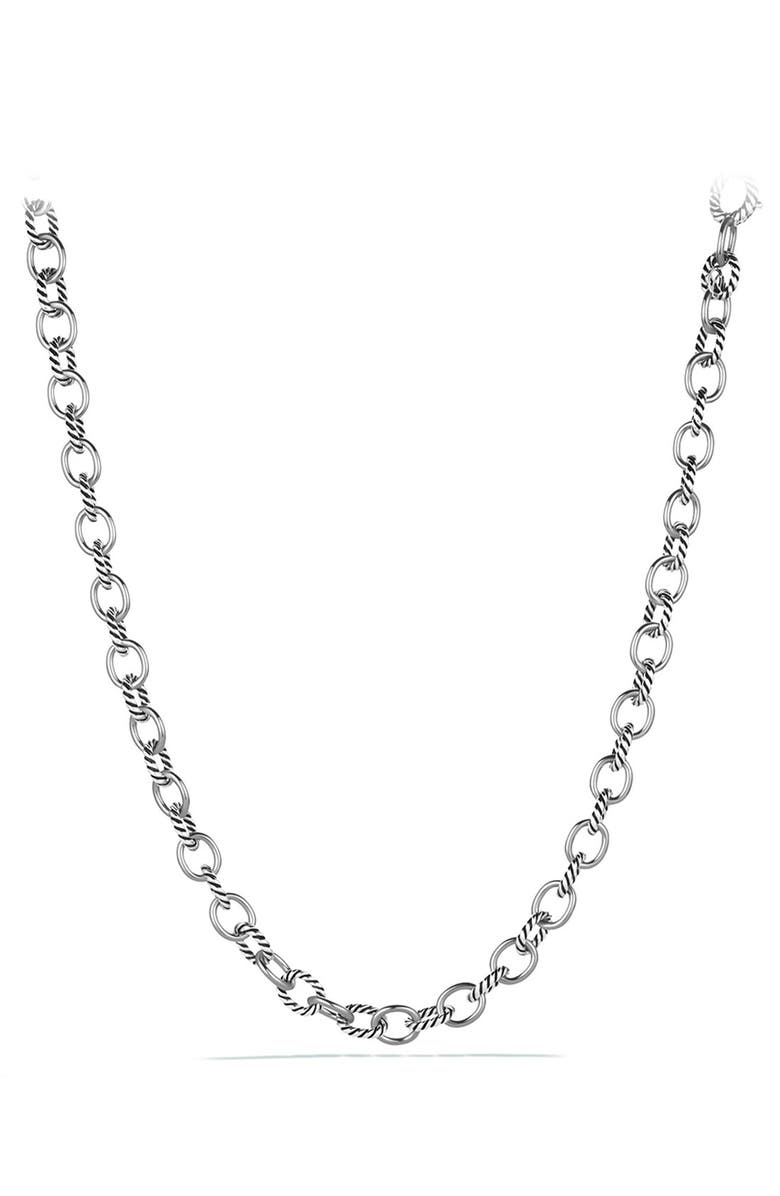 DAVID YURMAN 'Oval' Medium Link Necklace, Main, color, 040