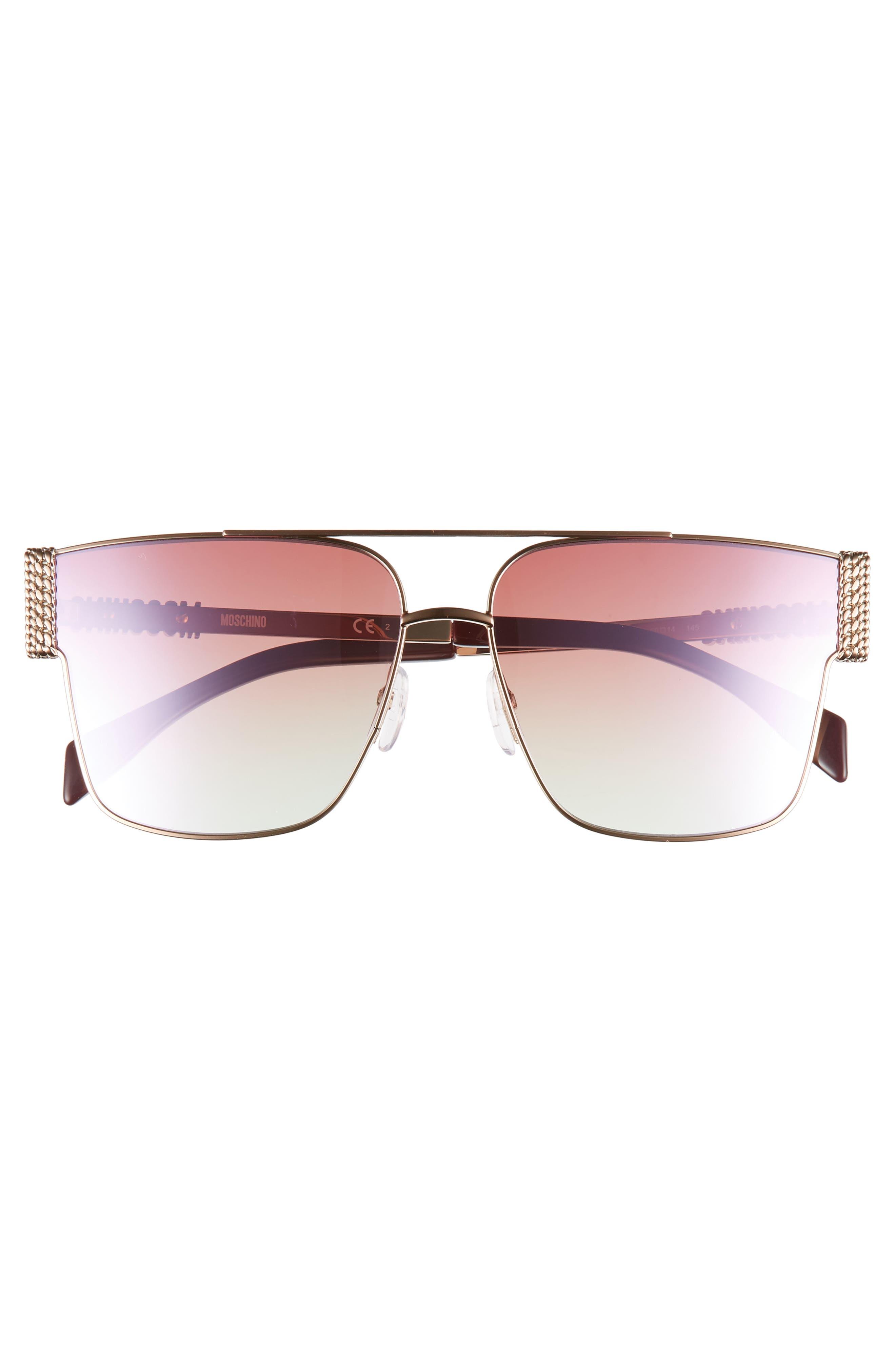 ,                             60mm Polarized Aviator Sunglasses,                             Alternate thumbnail 3, color,                             GOLD COPPER