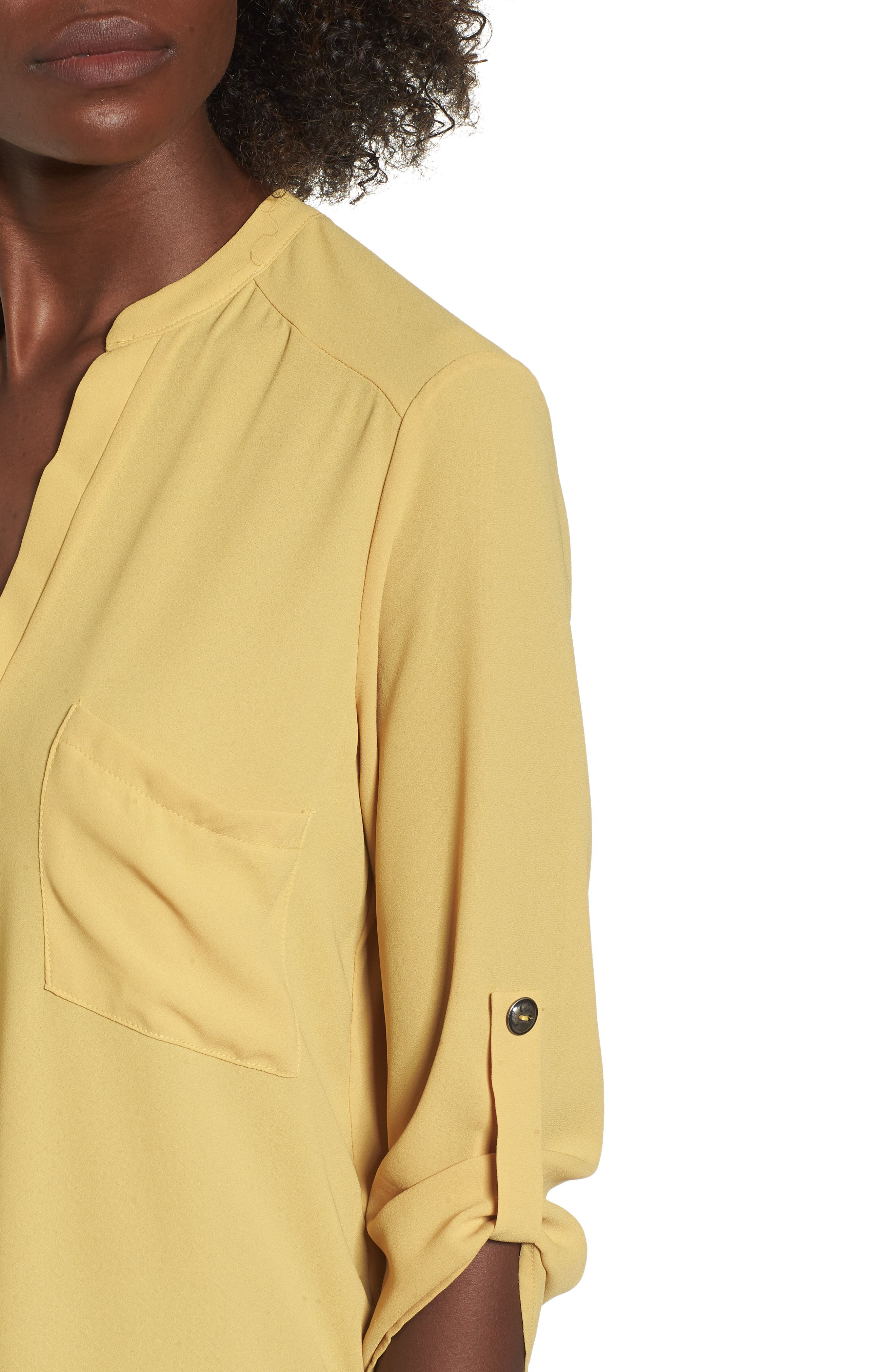 ,                             Perfect Roll Tab Sleeve Tunic,                             Alternate thumbnail 162, color,                             741