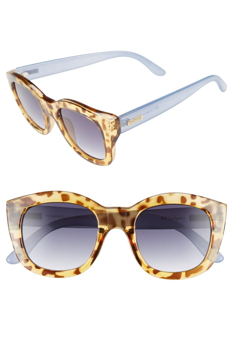 LE SPECS 'Runaways' 50mm Sunglasses, Main, color, 200