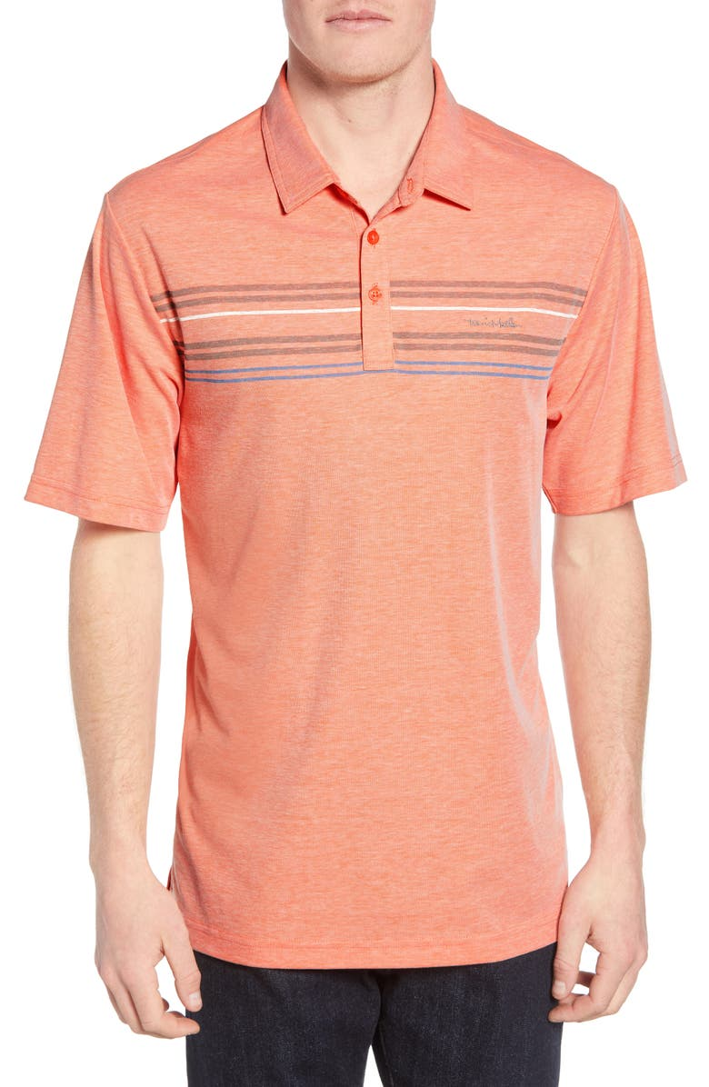 TRAVISMATHEW DHM Regular Fit Performance Polo, Main, color, HEATHER PERSIMMON