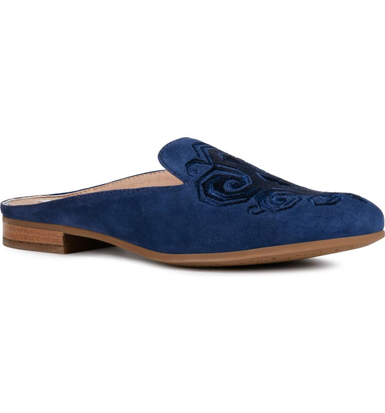 GEOX Marlyna Mule, Main, color, BLUE SUEDE
