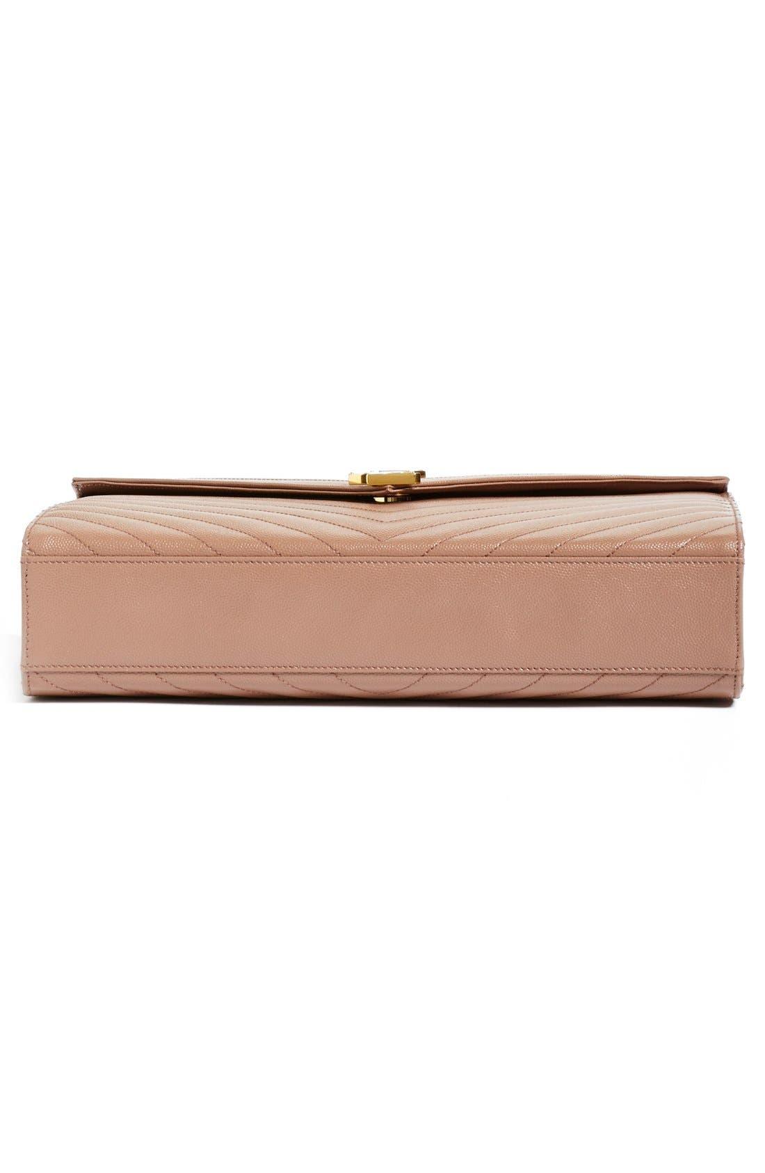 ,                             'Large Monogram' Grained Leather Shoulder Bag,                             Alternate thumbnail 40, color,                             650