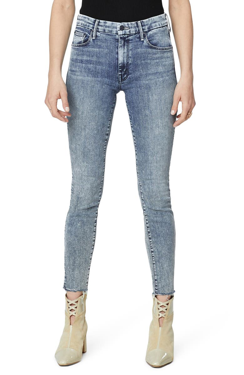 MOTHER The Looker Sacred High Waist Ankle Slit Skinny Jeans, Main, color, SHAKING THINGS UP