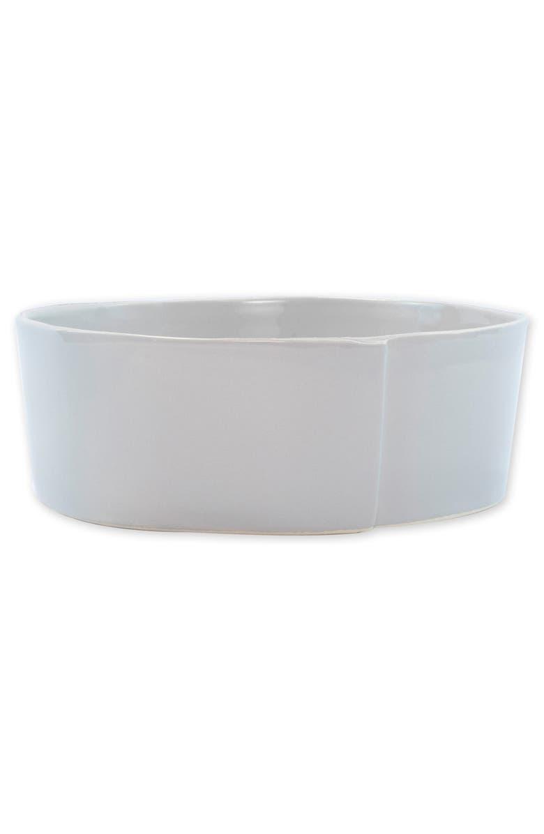 VIETRI Lastra Large Stoneware Serving Bowl, Main, color, LIGHT GRAY