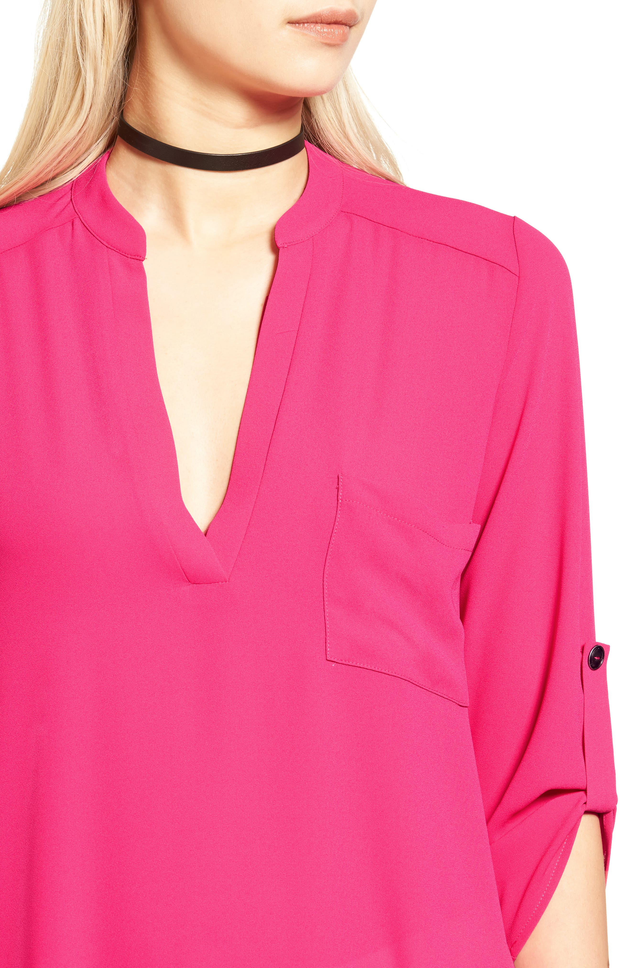 ,                             Perfect Roll Tab Sleeve Tunic,                             Alternate thumbnail 377, color,                             668