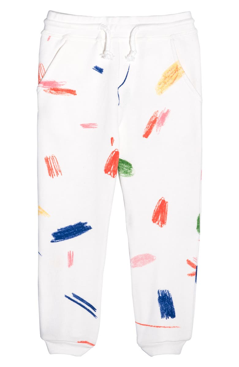 MAISONETTE Doodle Collection Print Jogger Pants, Main, color, 100