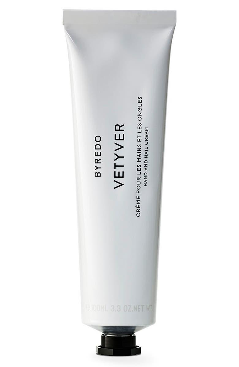 BYREDO Vetyver Hand Cream, Main, color, NO COLOR