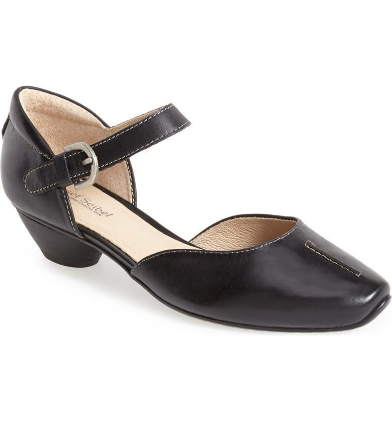 JOSEF SEIBEL 'Tina 17' Ankle Strap Pump, Main, color, BLACK