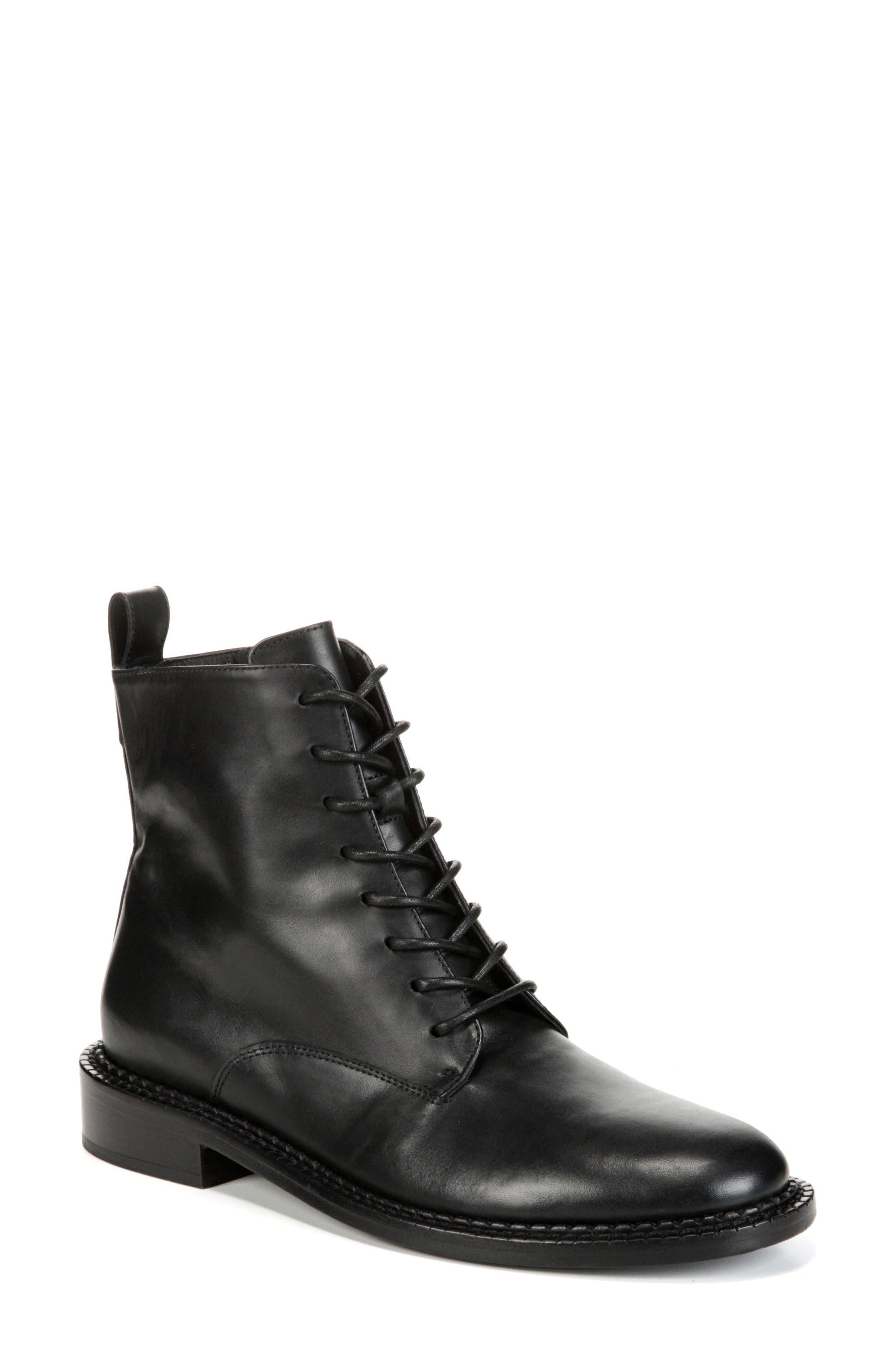 Vince Cabria Lace-Up Boot- Black
