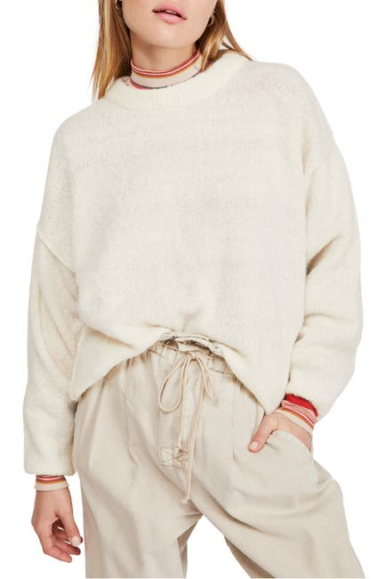 Image of Free People Angelic Crew Neck Pullover
