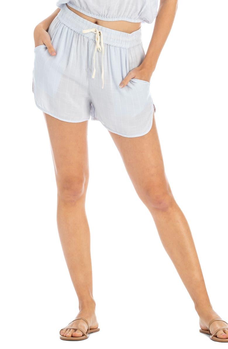 TAVIK Rian Cover-Up Shorts, Main, color, BLUE HAZE