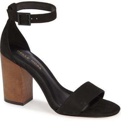 Pelle Moda Maja Halo Strap Sandal, Black