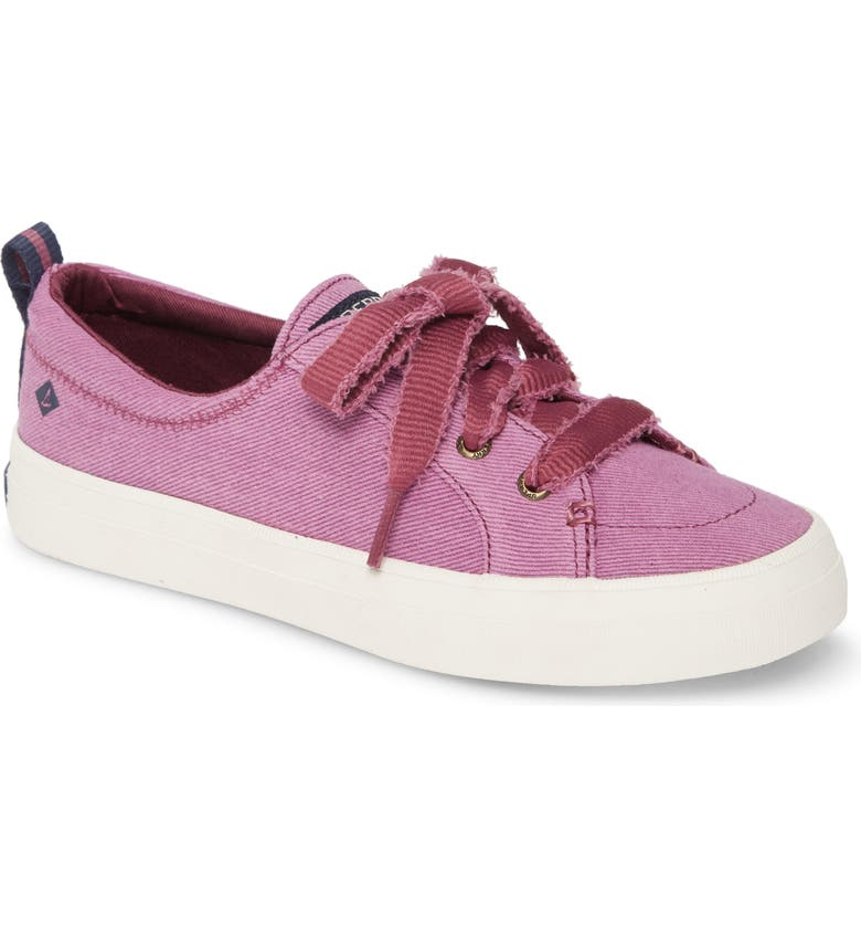 SPERRY Crest Vibe Sneaker, Main, color, BERRY VINTAGE TWILL FABRIC