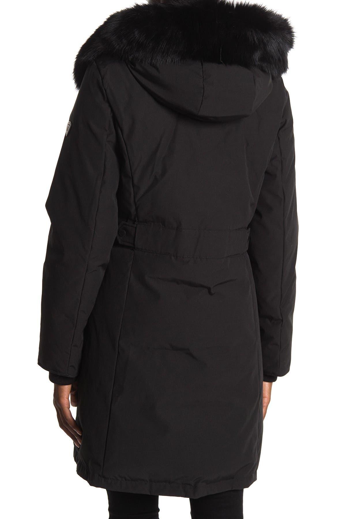 1 MADISON Genuine Dyed Fox Fur Hooded Jacket