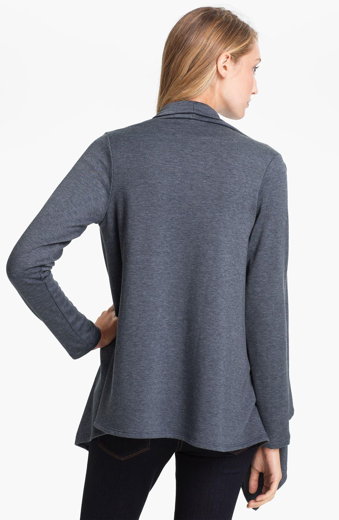 ,                             One-Button Fleece Wrap Cardigan,                             Alternate thumbnail 106, color,                             401
