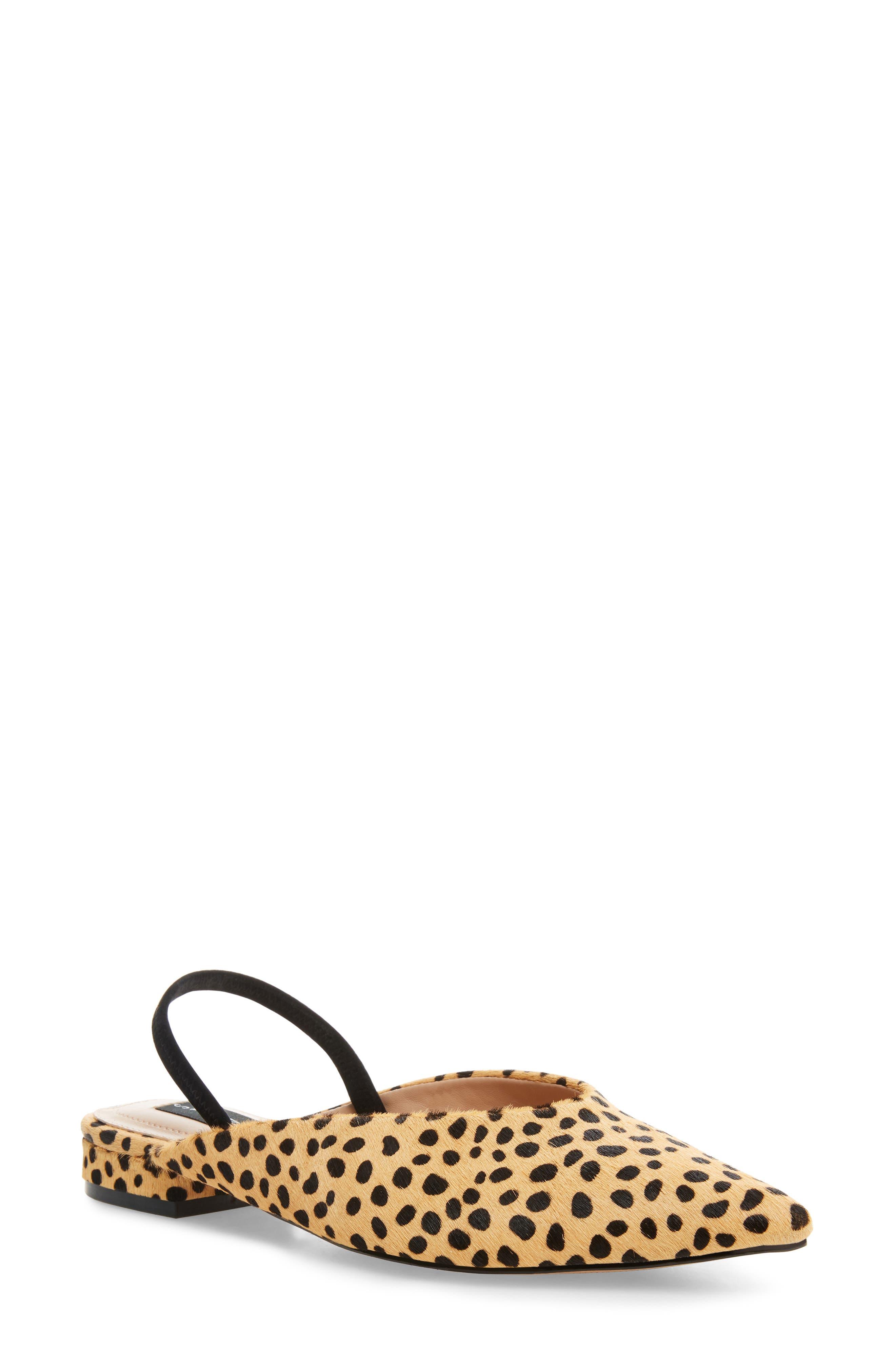 Image of STEVEN NEW YORK Lisboa Genuine Calf Hair Skimmer Sandal
