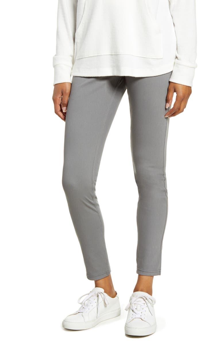 HUE Ultrasoft Denim Leggings, Main, color, MED GREY WASH