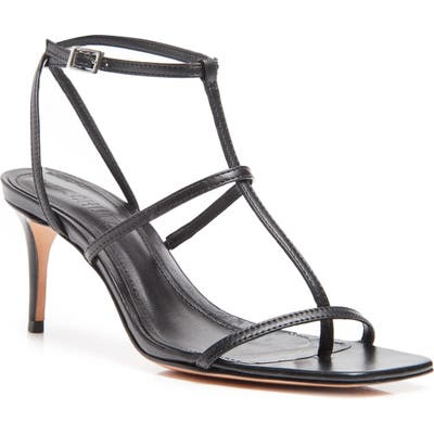 Schutz Ameena T-Strap Thong Sandal, Black