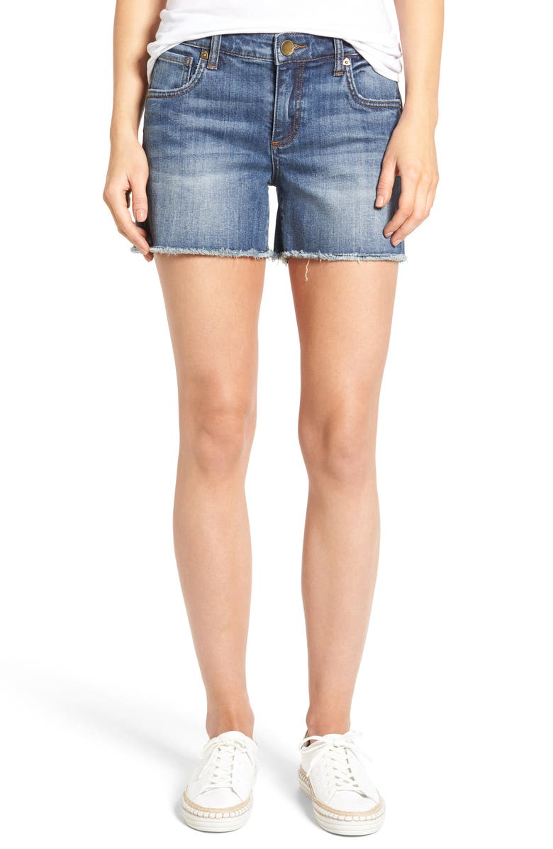 KUT FROM THE KLOTH Gidget Denim Shorts, Main, color, CONSOLIDATED