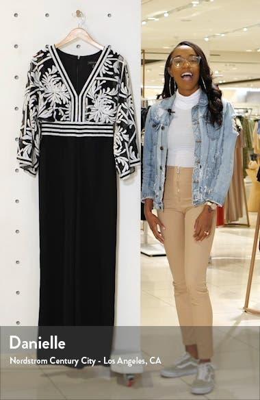 Lace Crepe Jumpsuit, sales video thumbnail