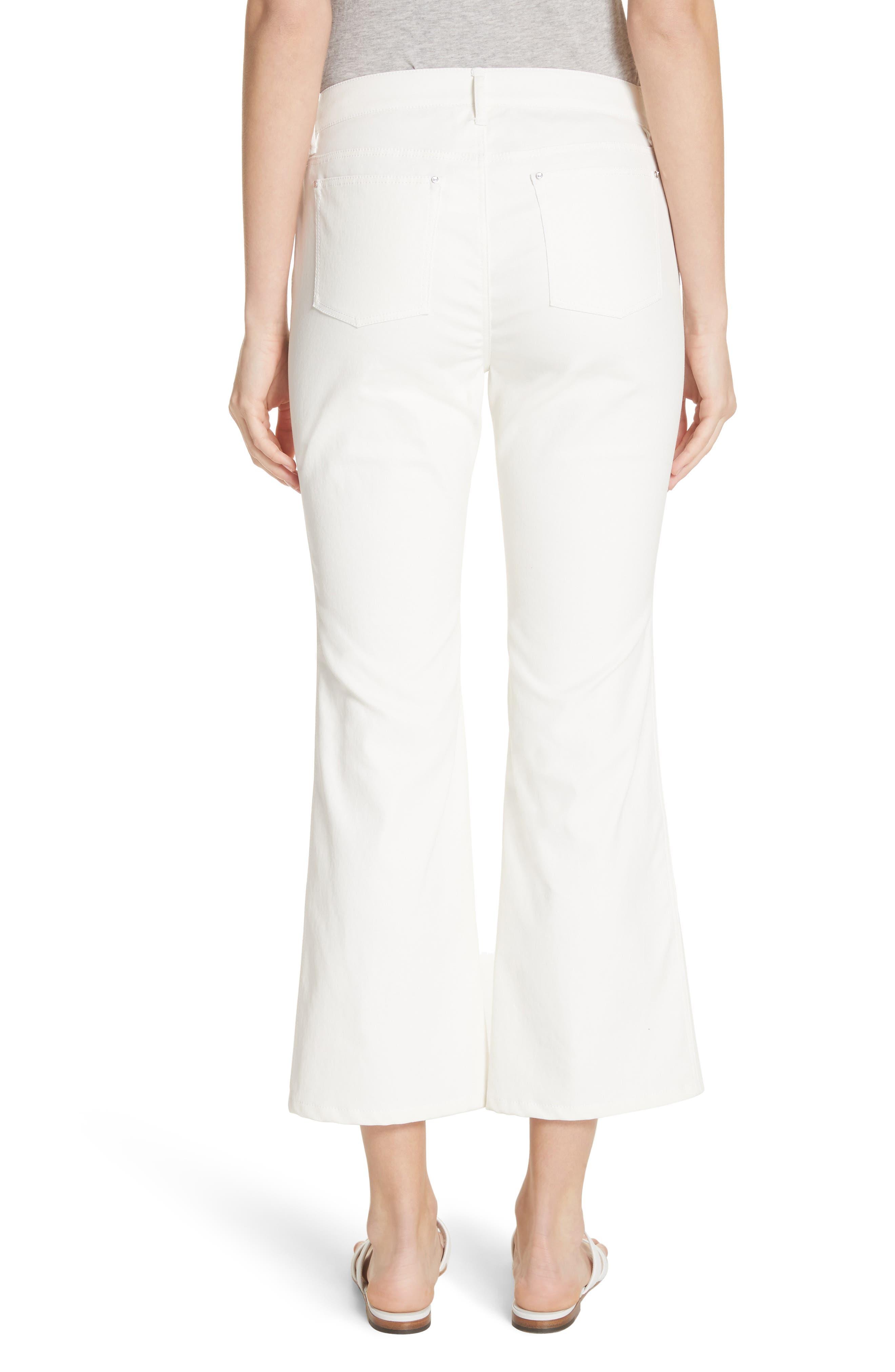 ,                             Mercer Crop Flare Jeans,                             Alternate thumbnail 2, color,                             WHITE