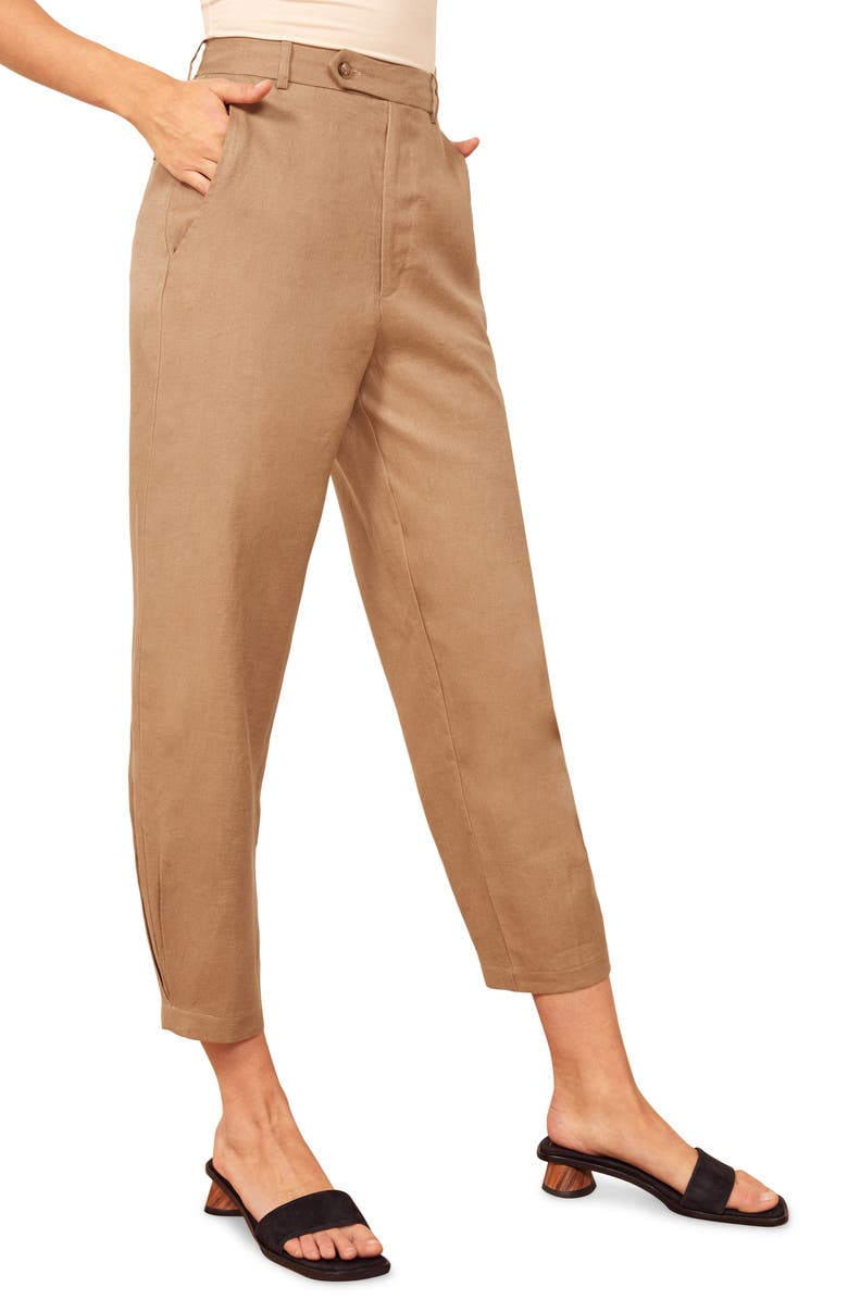 Fallon Linen Ankle Pants by Reformation