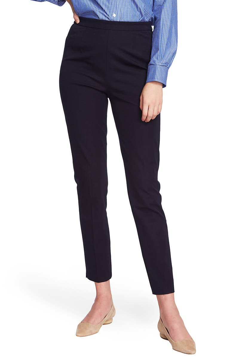 COURT & ROWE Slim Stretch Twill Pants, Main, color, BLUE NIGHT