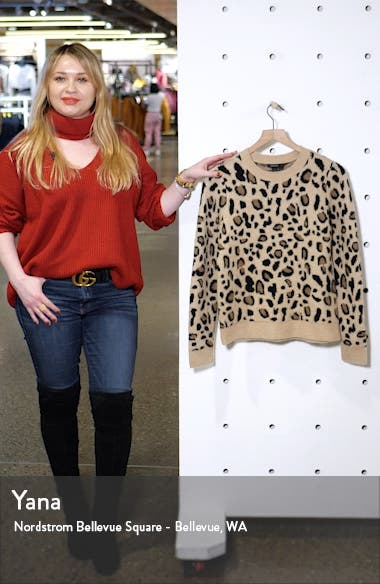 Leopard Spot Crewneck Pullover, sales video thumbnail
