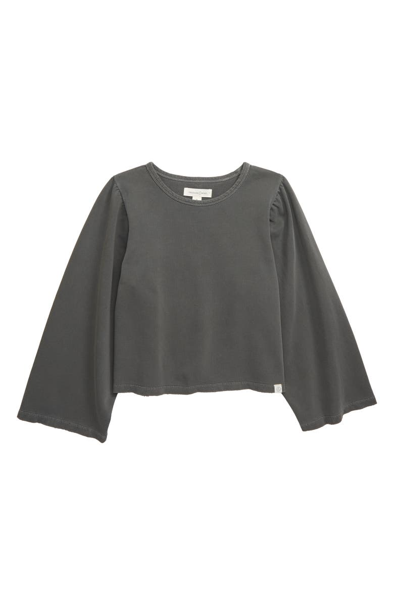 TREASURE & BOND Washed Flare Sleeve Sweatshirt, Main, color, GREY PEARL